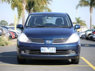 2007 Nissan Tiida C11 ST Blue 4 Speed Automatic Sedan.