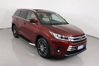 2018 Toyota Kluger GSU55R MY17 Grande (4x4) Red 8 Speed Automatic Wagon
