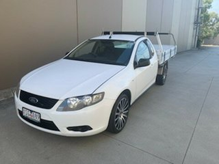 2010 Ford Falcon FG Super Cab White 4 Speed Automatic Cab Chassis.