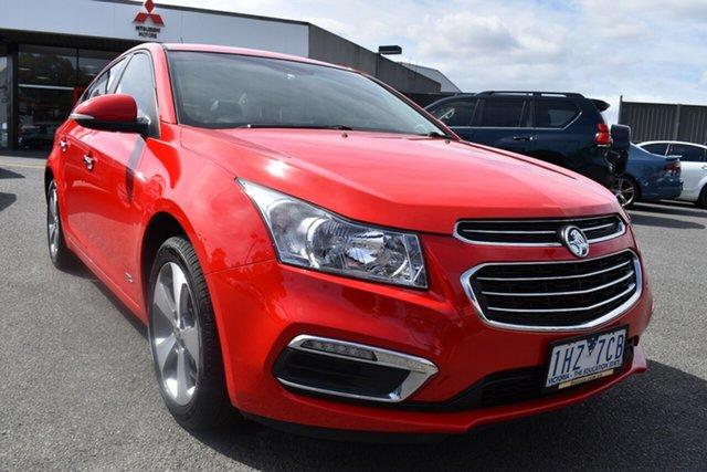 Used Holden Cruze JH Series II MY16 Z-Series Wantirna South, 2016 Holden Cruze JH Series II MY16 Z-Series Red/Black 6 Speed Sports Automatic Sedan