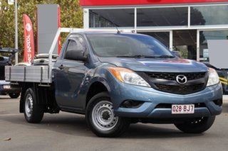 2013 Mazda BT-50 UP0YD1 XT 4x2 Blue 6 Speed Manual Cab Chassis.