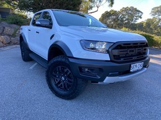 2020 Ford Ranger PX MKIII 2020.7 Raptor Arctic White 10 Speed SMF Double Cab Pick Up.