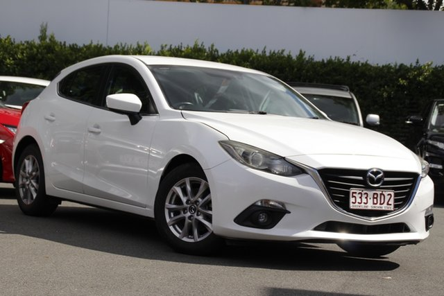 Used Mazda 3 BM5478 Touring SKYACTIV-Drive Mount Gravatt, 2015 Mazda 3 BM5478 Touring SKYACTIV-Drive White 6 Speed Sports Automatic Hatchback
