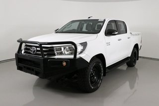 2016 Toyota Hilux GUN126R SR (4x4) White 6 Speed Manual Dual Cab Utility.