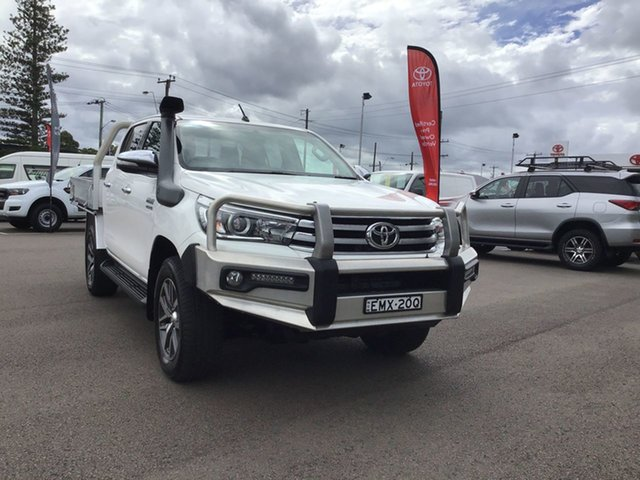 Pre-Owned Toyota Hilux GUN126R SR5 Double Cab Cardiff, 2015 Toyota Hilux GUN126R SR5 Double Cab White 6 Speed Sports Automatic Utility