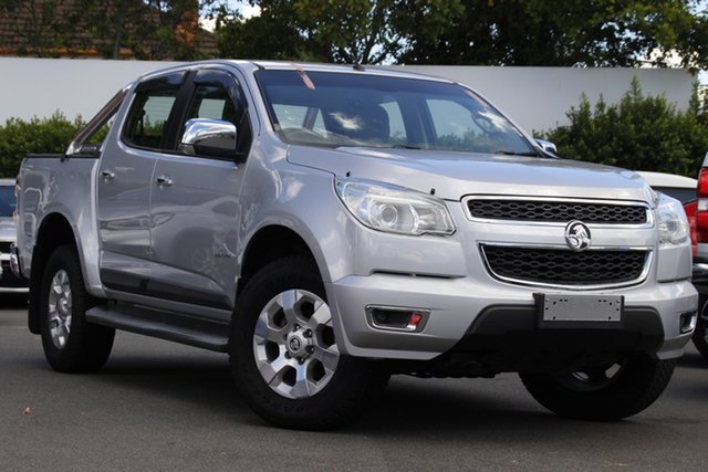 Used Holden Colorado RG MY14 LTZ Crew Cab Mount Gravatt, 2014 Holden Colorado RG MY14 LTZ Crew Cab Silver 6 Speed Manual Utility