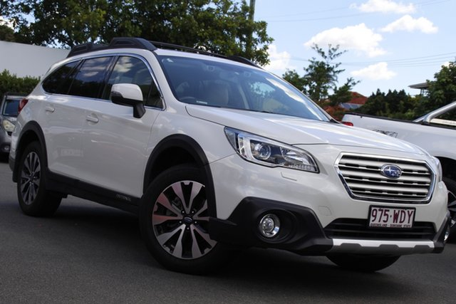 Used Subaru Outback B6A MY15 2.5i CVT AWD Premium Mount Gravatt, 2015 Subaru Outback B6A MY15 2.5i CVT AWD Premium White 6 Speed Constant Variable Wagon