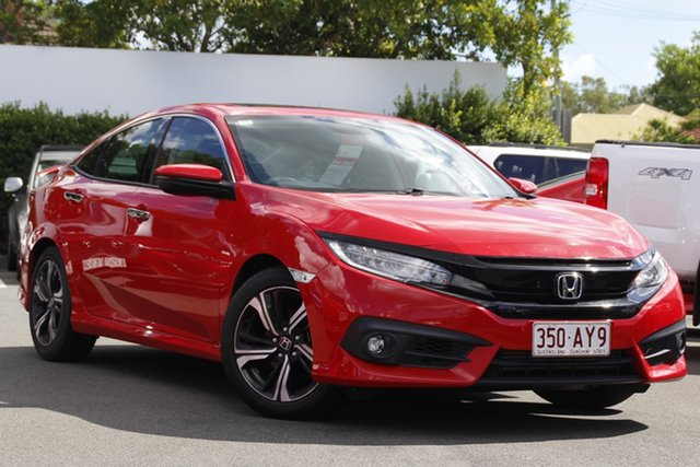 Used Honda Civic 10th Gen MY17 RS Mount Gravatt, 2017 Honda Civic 10th Gen MY17 RS Red 1 Speed Constant Variable Sedan