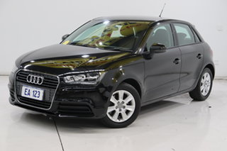 2013 Audi A1 8X MY14 Attraction Sportback S Tronic Black 7 Speed Sports Automatic Dual Clutch.