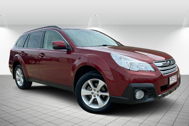 Used Subaru Outback B5A MY13 2.5i Lineartronic AWD Premium Hervey Bay, 2013 Subaru Outback B5A MY13 2.5i Lineartronic AWD Premium Red/Black 6 Speed Constant Variable Wagon