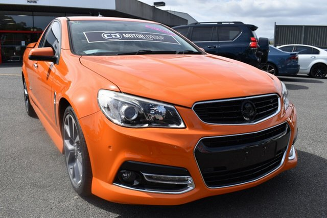 Used Holden Ute VF MY15 SS V Ute Wantirna South, 2014 Holden Ute VF MY15 SS V Ute Orange 6 Speed Manual Utility