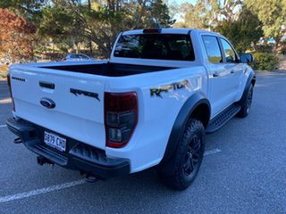2020 Ford Ranger PX MKIII 2020.7 Raptor Arctic White 10 Speed SMF Double Cab Pick Up