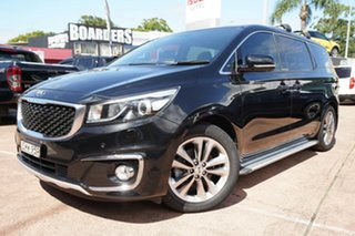2017 Kia Carnival YP MY17 Platinum Black 6 Speed Automatic Wagon.