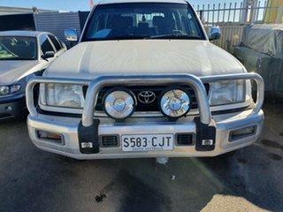 1998 Toyota Landcruiser FZJ105R GXL White 4 Speed Automatic Wagon.