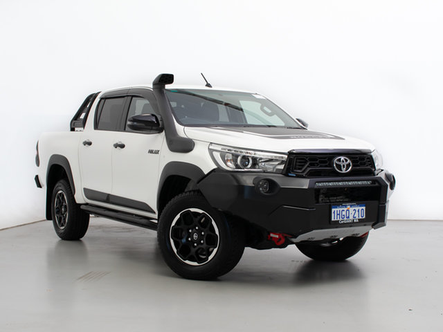 Used Toyota Hilux GUN126R MY19 Rugged X (4x4), 2019 Toyota Hilux GUN126R MY19 Rugged X (4x4) White 6 Speed Automatic Double Cab Pick Up
