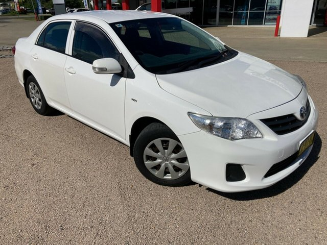 Used Toyota Corolla ZRE152R MY10 Ascent South Grafton, 2010 Toyota Corolla ZRE152R MY10 Ascent Glacier White 4 Speed Automatic Sedan