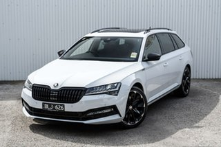 2020 Skoda Superb NP MY21 206TSI DSG SportLine White 6 Speed Sports Automatic Dual Clutch Wagon.