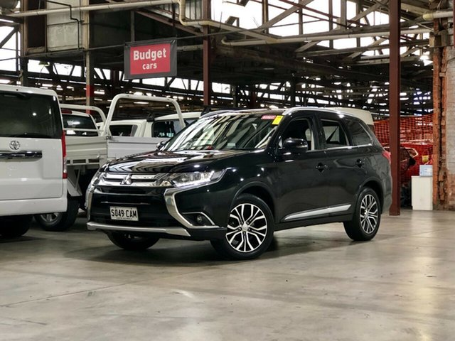 Used Mitsubishi Outlander ZJ MY14.5 LS 2WD Mile End South, 2015 Mitsubishi Outlander ZJ MY14.5 LS 2WD Black 6 Speed Constant Variable Wagon