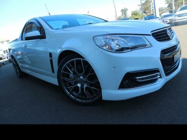 Used Holden Ute VF SS-V Redline Kingswood, 2013 Holden Ute VF SS-V Redline White 6 Speed Manual Utility