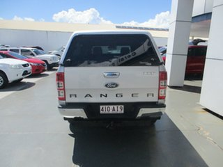 2012 Ford Ranger PX XLT 3.2 (4x4) Silver 6 Speed Manual Super Cab Utility.