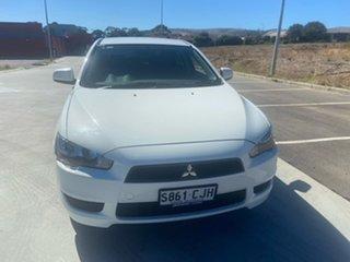 2010 Mitsubishi Lancer CJ MY10 Activ Sportback White 6 Speed Constant Variable Hatchback.