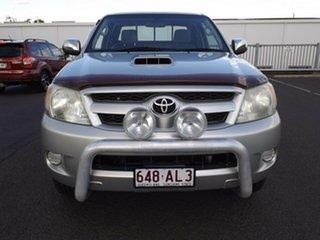 2005 Toyota Hilux KUN26R MY05 SR5 Xtra Cab Silver 5 Speed Manual Utility.