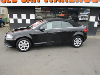 2009 Audi A3 8P 1.6 Attraction Black 5 Speed Manual Cabriolet