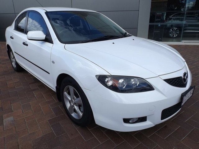 Used Mazda 3 BK10F2 Neo Toowoomba, 2008 Mazda 3 BK10F2 Neo White 5 Speed Manual Sedan