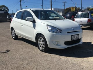 2013 Mitsubishi Mirage LA MY14 Sport White 1 Speed Constant Variable Hatchback