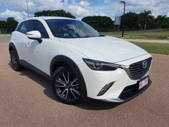 Used Mazda CX-3 DK2W7A sTouring SKYACTIV-Drive Townsville, 2017 Mazda CX-3 DK2W7A sTouring SKYACTIV-Drive Snowflake White 6 Speed Sports Automatic Wagon