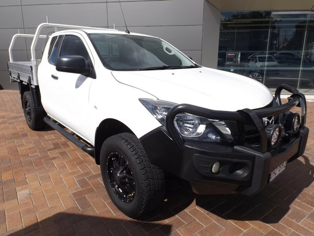 Used Mazda BT-50 UR0YG1 XT Freestyle 4x2 Hi-Rider Toowoomba, 2017 Mazda BT-50 UR0YG1 XT Freestyle 4x2 Hi-Rider White 6 Speed Manual Cab Chassis