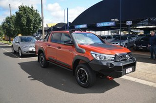 2018 Toyota Hilux GUN126R MY19 Rugged X (4x4) Orange 6 Speed Manual Double Cab Pick Up.