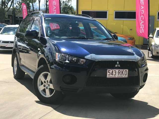 Used Mitsubishi Outlander ZH MY10 LS Toowoomba, 2010 Mitsubishi Outlander ZH MY10 LS Blue 6 Speed Constant Variable Wagon
