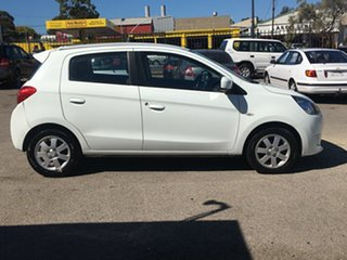 2013 Mitsubishi Mirage LA MY14 Sport White 1 Speed Constant Variable Hatchback.