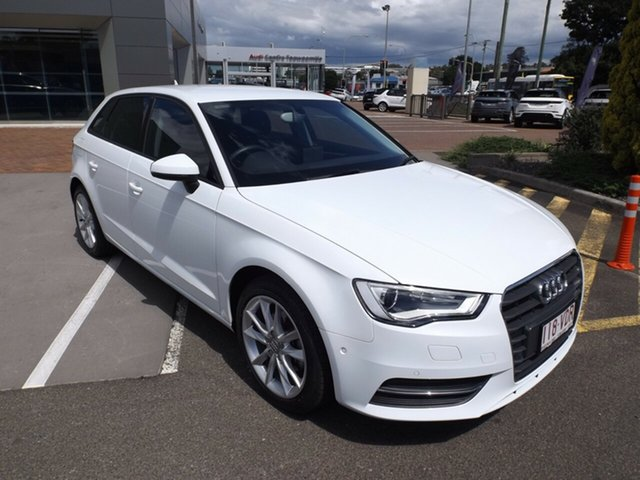 Used Audi A3 8V Attraction Sportback S Tronic Toowoomba, 2014 Audi A3 8V Attraction Sportback S Tronic 7 Speed Sports Automatic Dual Clutch Hatchback