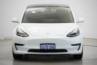 2019 Tesla Model 3 Standard Range Plus White 1 Speed Reduction Gear Sedan.
