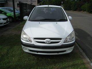 2007 Hyundai Getz TB Upgrade SX White 5 Speed Manual Hatchback.