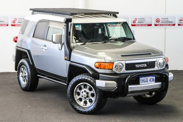 Pre-Owned Toyota FJ Cruiser GSJ15R Myaree, 2012 Toyota FJ Cruiser GSJ15R Titanium/White Roof 5 Speed Automatic Wagon