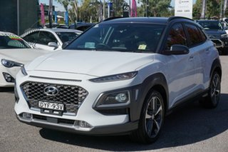 2018 Hyundai Kona OS MY18 Highlander D-CT AWD White 7 Speed Sports Automatic Dual Clutch Wagon