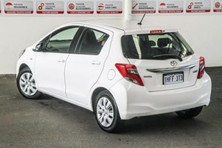 2015 Toyota Yaris NCP130R MY15 Ascent Glacier White 5 Speed Manual Hatchback.