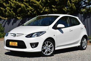 2009 Mazda 2 DE10Y1 Genki White 4 Speed Automatic Hatchback.