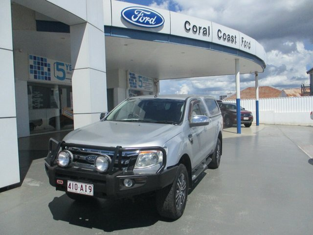 Used Ford Ranger PX XLT 3.2 (4x4) Bundaberg, 2012 Ford Ranger PX XLT 3.2 (4x4) Silver 6 Speed Manual Super Cab Utility
