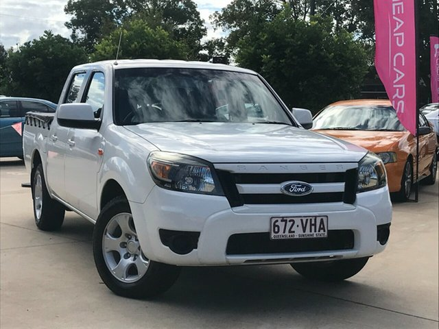 Used Ford Ranger PK XL Crew Cab 4x2 Toowoomba, 2009 Ford Ranger PK XL Crew Cab 4x2 White 5 Speed Automatic Utility
