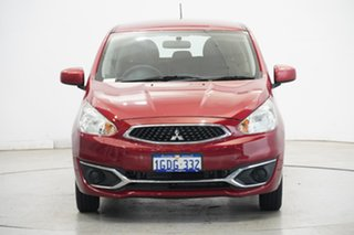 2016 Mitsubishi Mirage LA MY15 ES Red Planet 5 Speed Manual Hatchback.
