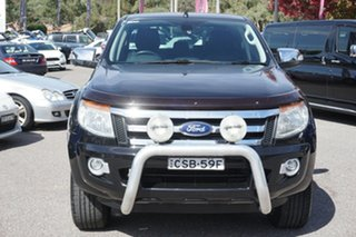 2012 Ford Ranger PX XLT Double Cab Black 6 Speed Sports Automatic Utility.