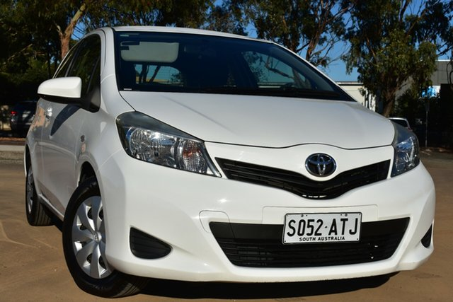 Used Toyota Yaris NCP130R YR St Marys, 2012 Toyota Yaris NCP130R YR White 4 Speed Automatic Hatchback