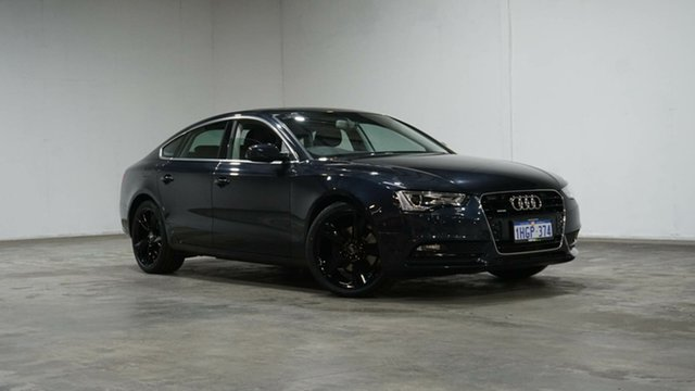 Used Audi A5 8T MY14 Sportback S Tronic Quattro Welshpool, 2014 Audi A5 8T MY14 Sportback S Tronic Quattro Blue 7 Speed Sports Automatic Dual Clutch Hatchback