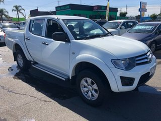 2013 Mitsubishi Triton MN MY12 GLX White 4 Speed Automatic Double Cab Utility.
