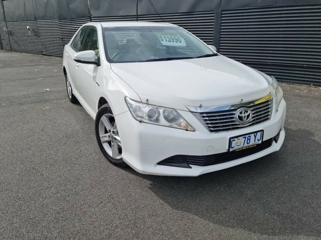 Used Toyota Aurion GSV50R AT-X Launceston, 2012 Toyota Aurion GSV50R AT-X White 6 Speed Sports Automatic Sedan