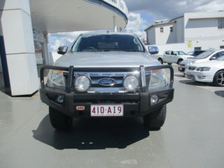 2012 Ford Ranger PX XLT 3.2 (4x4) Silver 6 Speed Manual Super Cab Utility